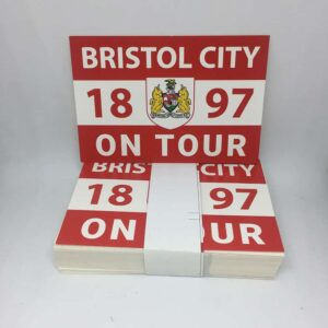 Bristol City 1897 on Tour: Bristol City FC Stickers