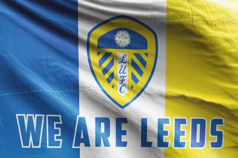 N//F Leeds United Marching On Together Flags Banner Flagge Banner
