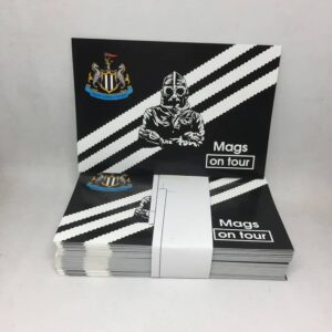 Mags on Tour: Newcastle United FC Stickers
