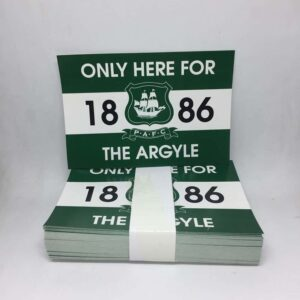 Only Here for the Argyle: Plymouth Argyle FC Stickers