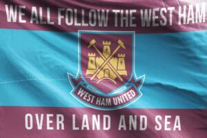 Over Land and Sea: West Ham United FC Flag